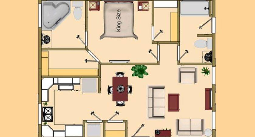 Actually Sqft Cozyhomeplans Small House Floor Plan