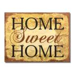 Adeco Decorative Wood Wall Hanging Sign Plaque Home Sweet