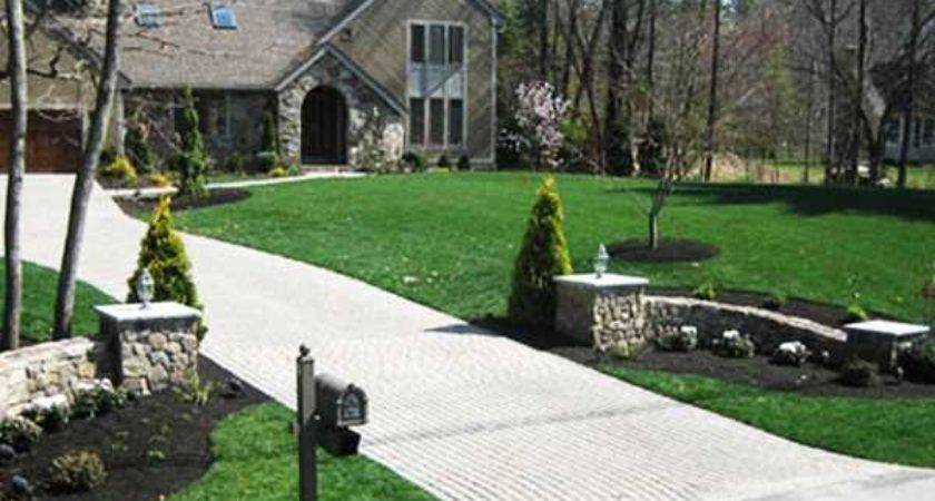 Amazing Driveway Landscaping Country Entrance