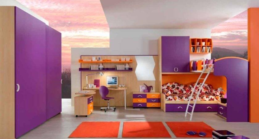 Amazing Purple Beds Theme Girls