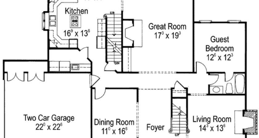 American Country House Plans Homes Floor