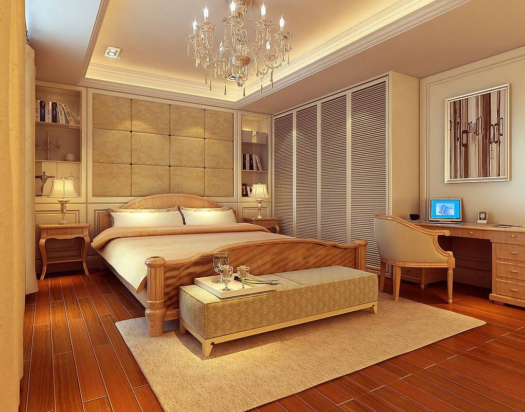 American Modern Bedroom Interior Design Rendering House