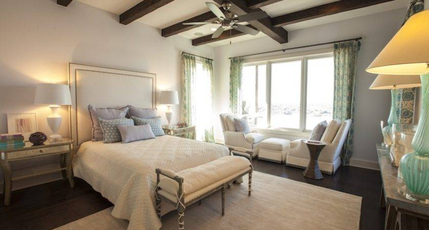 Antiqued Mirrored Nightstands Transitional Bedroom Southern Living