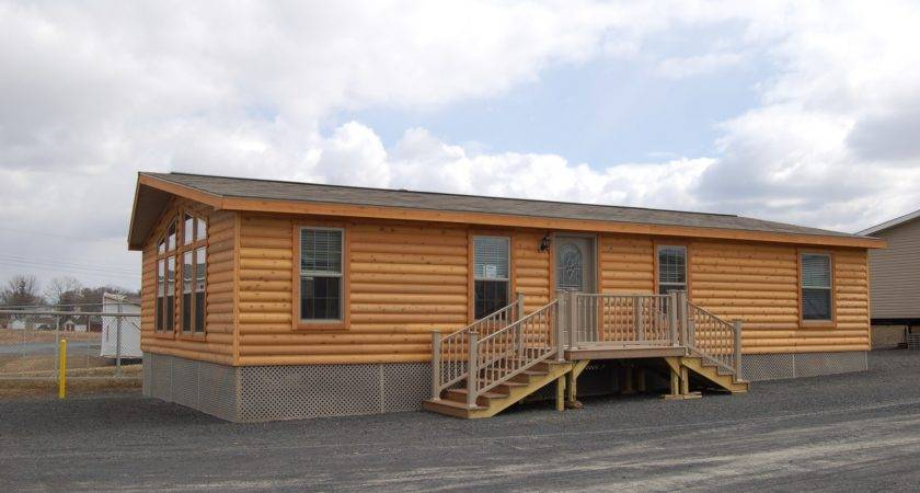 Appealing Double Wide Log Home Taupe Wall Framed Erins