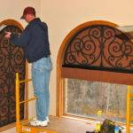 Arch Using Faux Iron Tableaux Window Treatments Pinterest