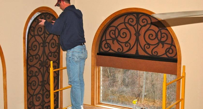 Arch Using Faux Iron Tableaux Window Treatments Pinterest
