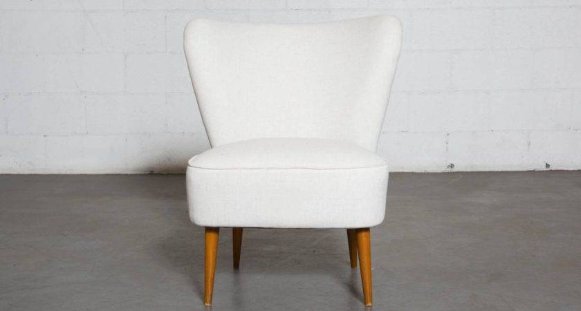 Armless Small Wing Back Boudoir Lounge Chair Stdibs