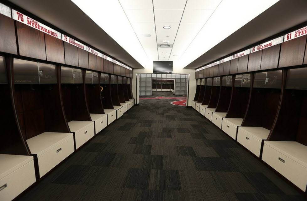 Arms Race Top Locker Rooms College Football