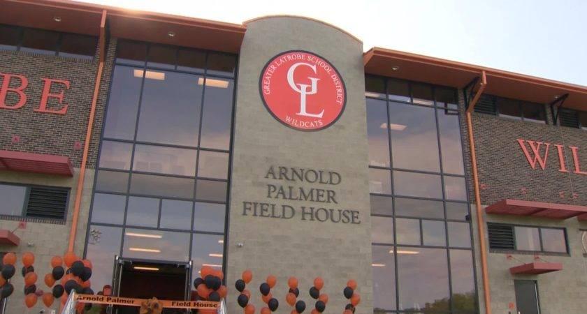 Arnold Palmer Cuts Ribbon Field House Named His Honor