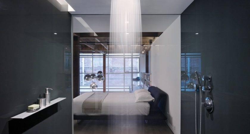 Awesome Modern Walk Shower Rain Showerhead Bedroom