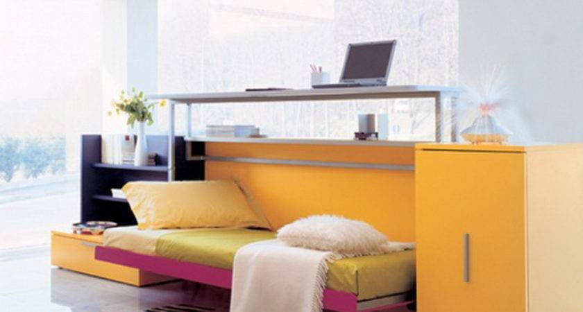 Awesome Yellow Bunk Bed Furniture Multifunctional Computer Desk
