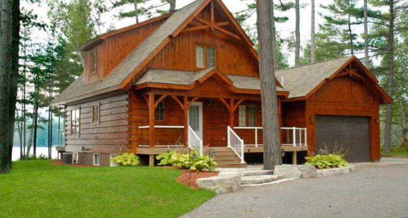 Back Prefab Log Cabins Sale