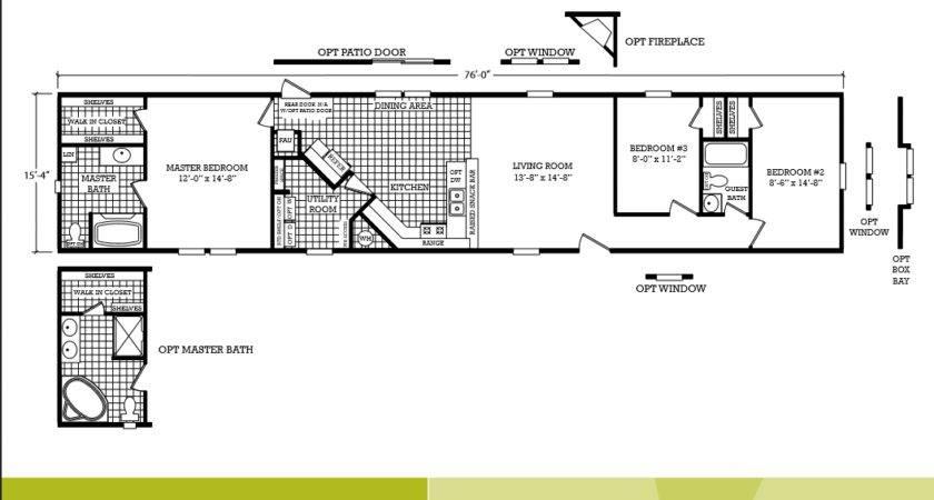 Back Single Wide Mobile Home Floor Plans Bedroom