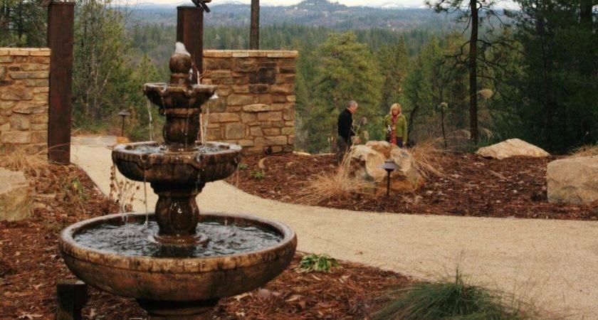 Backyard Mediterranean Water Fountain Sound Running