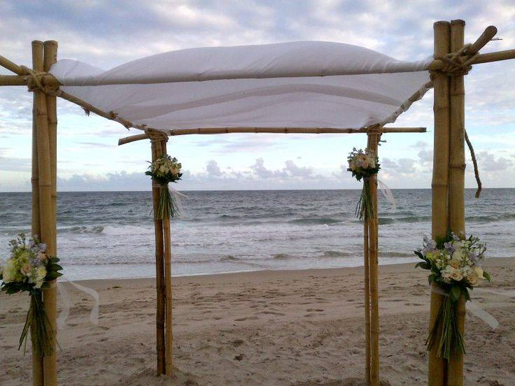 Bamboo Chuppah Gazebo Destination Weddings Events Design