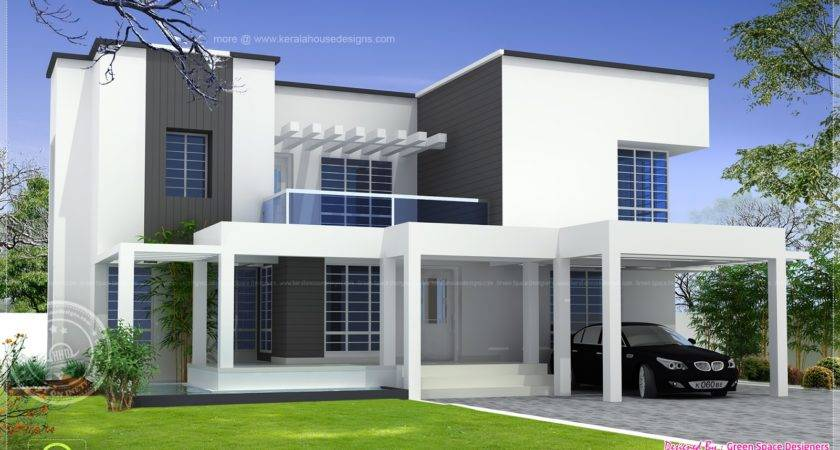 Based Box Type Modern Home Design Kerala Floor Plans