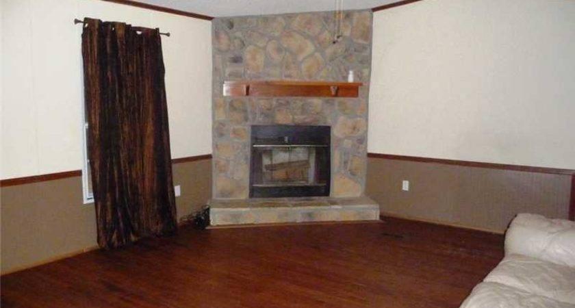 Bath Mobile Home Single Wide Has Wood Burning Fireplace