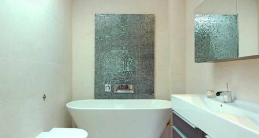 Bath Tub Bathroom Tiles Freestanding Mirrors Sink Taps Feature