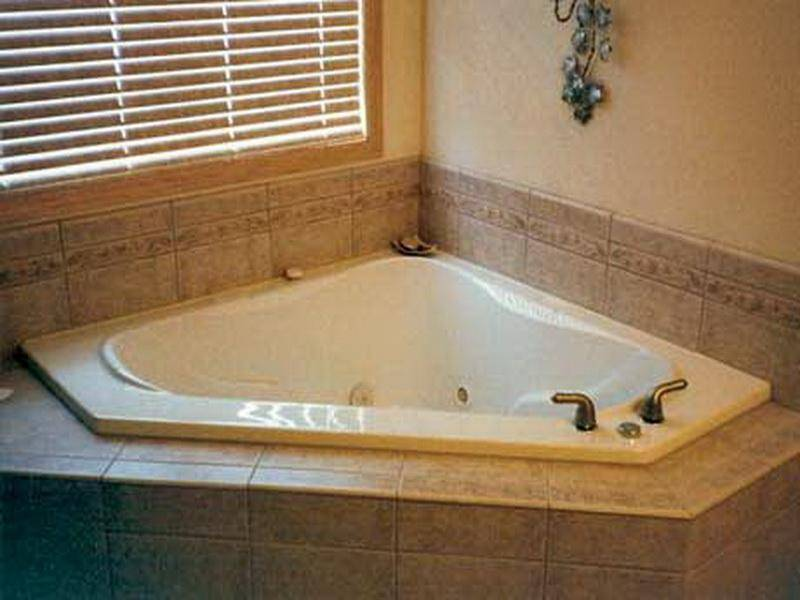 Bathroom Corner Tub Tile Ideas