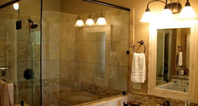Bathroom Design Remodeling Ideas Beige Tiling Large Walk