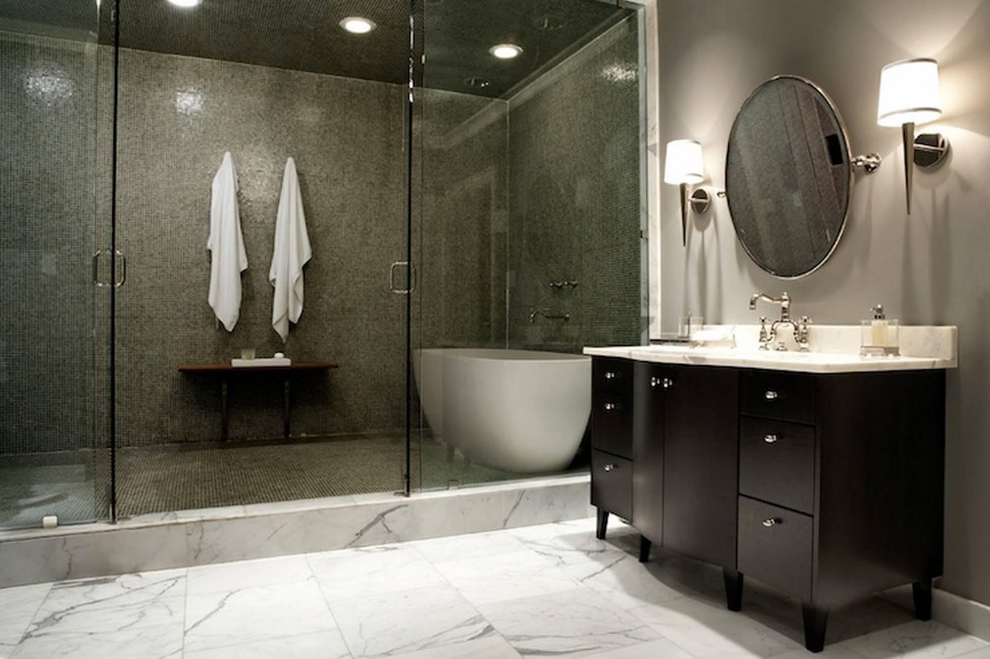 Bathroom Master Bath Walk Shower Construction