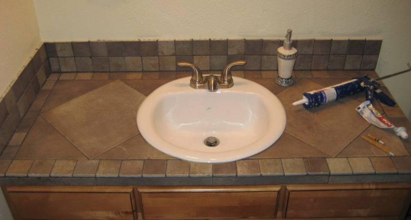 Bathroom Vanity Tile Countertop Home Pinterest