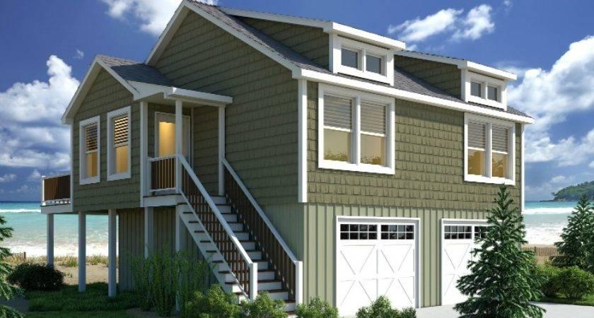 Beach Bungalow Modular Home Floor Plan