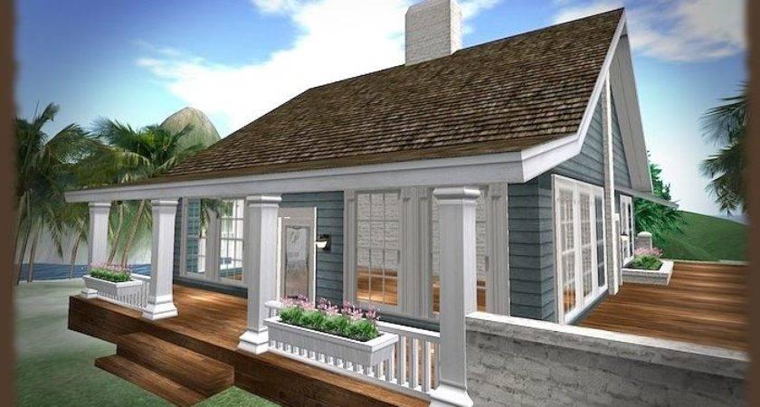 Beach Cottage House Bluebonnet Prefab Prims