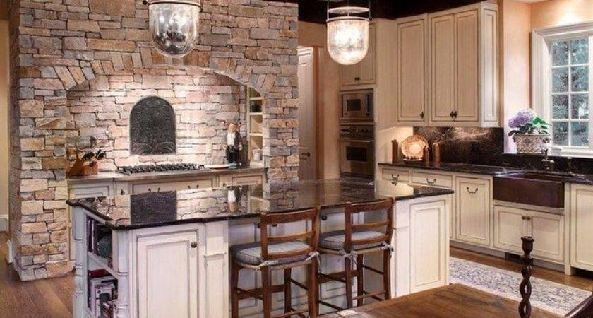 Beautiful Kitchens Design Ideas Stone Walls Hag