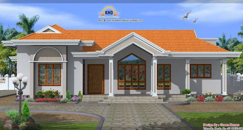 Beautiful Single Floor House Elevation Kerala Home