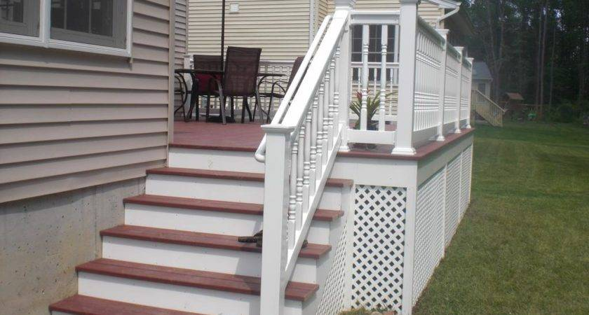 Beauty Deck Special Steps Mobile Home Decks Erins