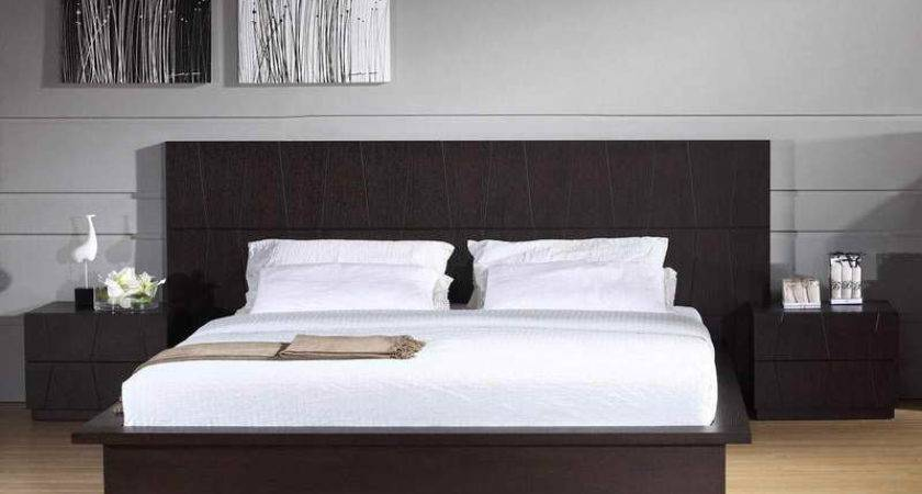 Bed Headboards Designs Grey Wall