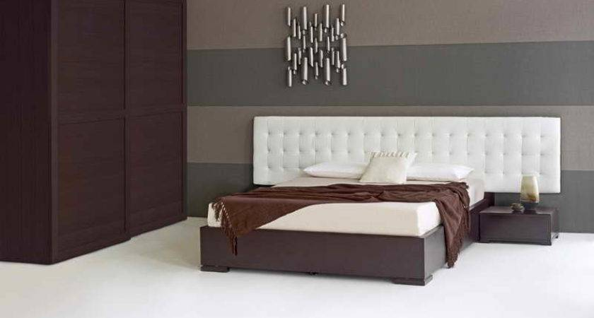 Bed Headboards Designs Stripped Wall