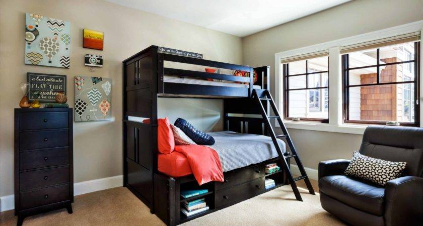 Bed Ideas Gray Wall Paint Black Ladder Brilliant Beds Small Modern