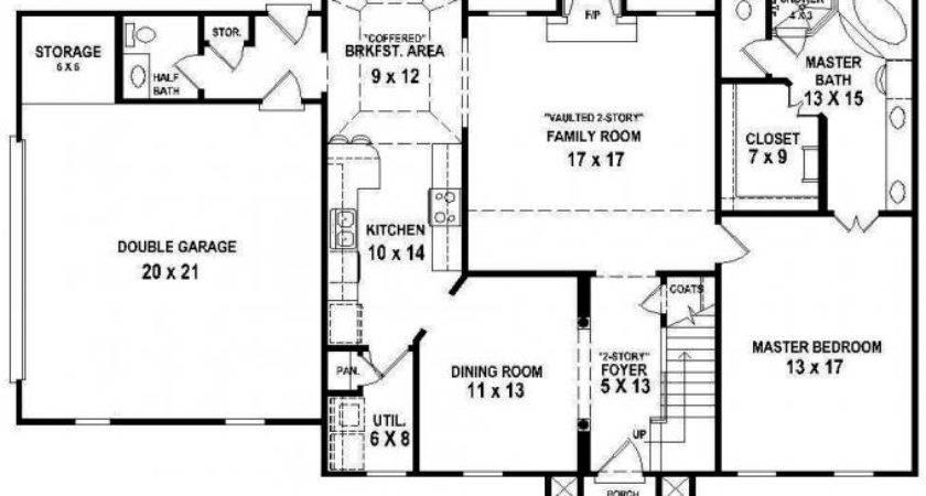 Bedroom Bath House Plan Plans Floor Home