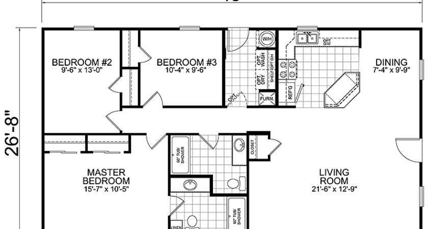 Bedroom Bath House Plans Homes Floor