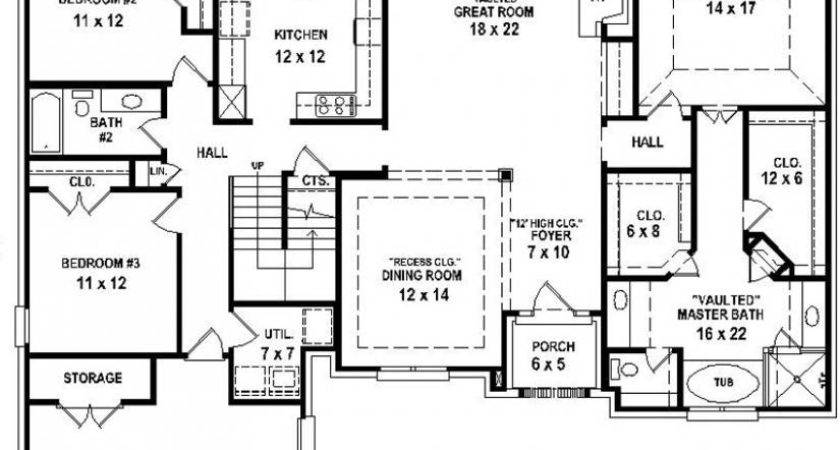 Bedroom Bath House Plans