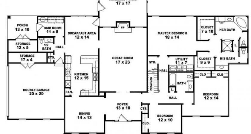 Bedroom Bath Louisiana Plantation Style House Plan