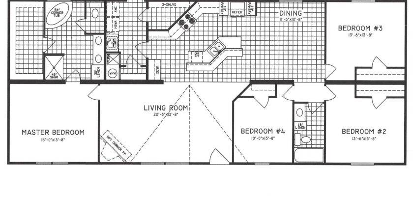 Bedroom Bath Single Wide Mobile Home Floor Plans