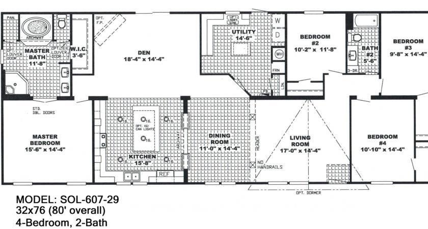 Bedroom Bathroom Mobile Home Floor Plans