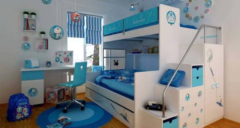 Bedroom Designs Blue Bunk Beds Girls Room