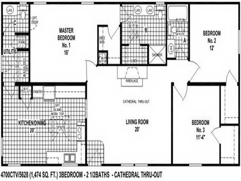 Bedroom Double Wide Mobile Home Floor Plans Galleries