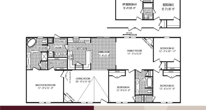 2  Bedroom Double Wide Mobile Home Floor Plans Larger Plan. Top 21 Photos Ideas For 5 Bedroom 3 Bath Mobile Home Floor Plans