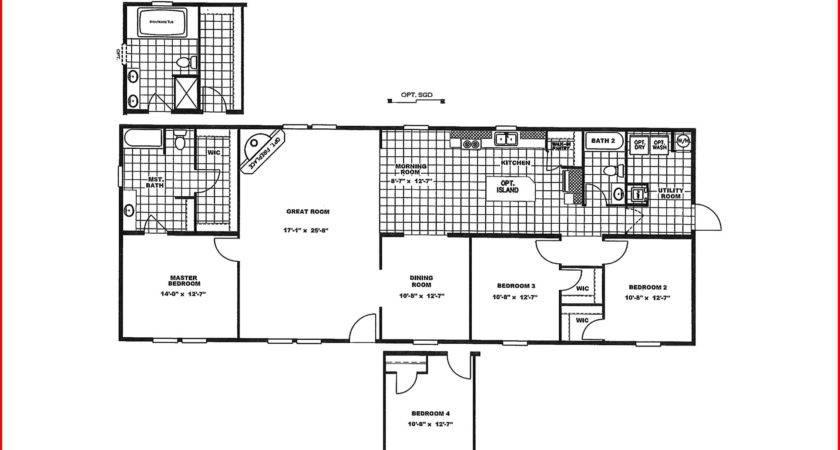 Bedroom Double Wide Mobile Home Floor Plans Plan