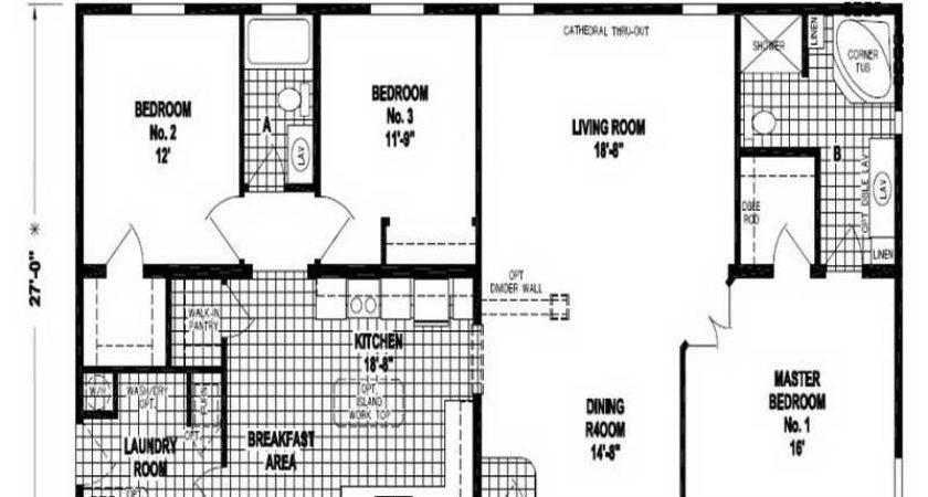 Bedroom Double Wide Mobile Home Floor Plans