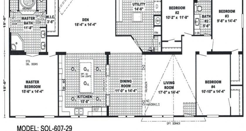 Bedroom Double Wide Trailers Floor Plans Mobile Homes