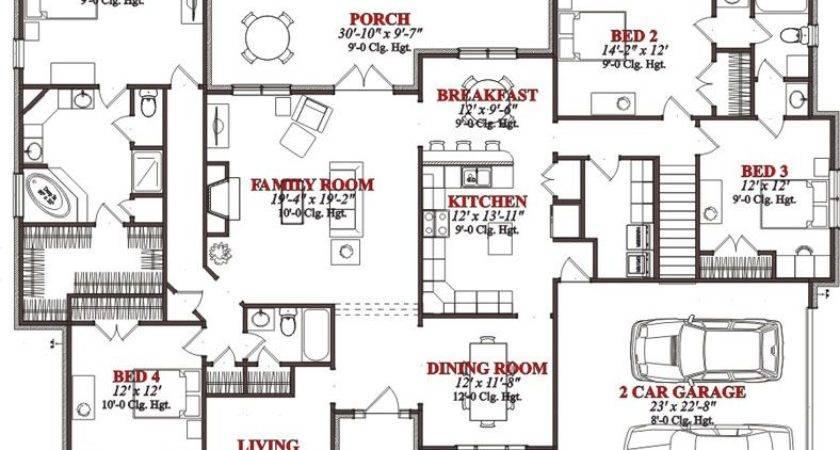 Bedroom House Floor Plans Sqaure Feet