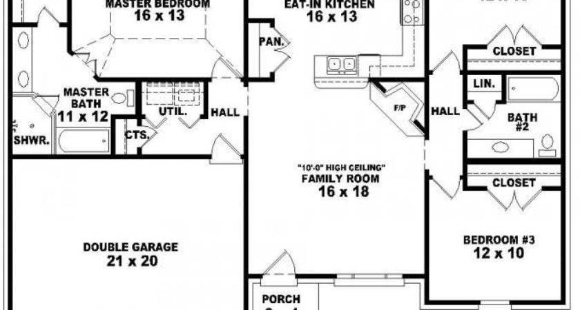 Bedroom House Plans One Story Best Level