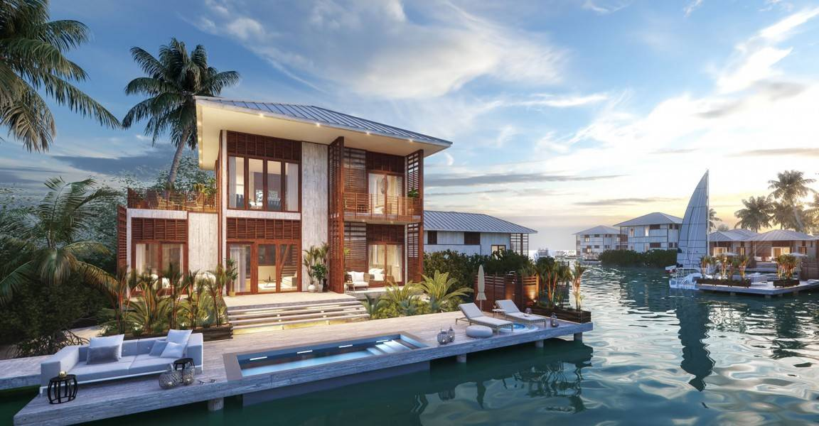 Bedroom Luxury Lagoon Homes Sale Placencia Belize Heaven
