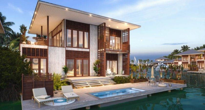 Bedroom Luxury Lagoon Houses Sale Placencia Belize